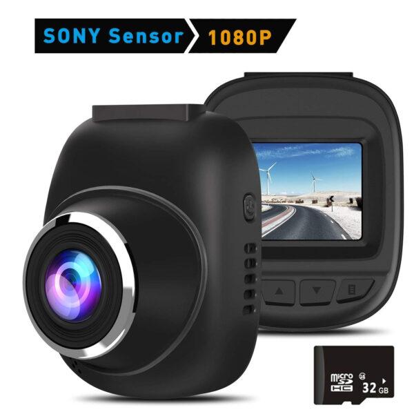 超小型ドライブレコーダー 車載カメラ hd録画レコーダー Gセンサー付き WDR 常時録画 駐車監視 動き検知 32GBカード付属