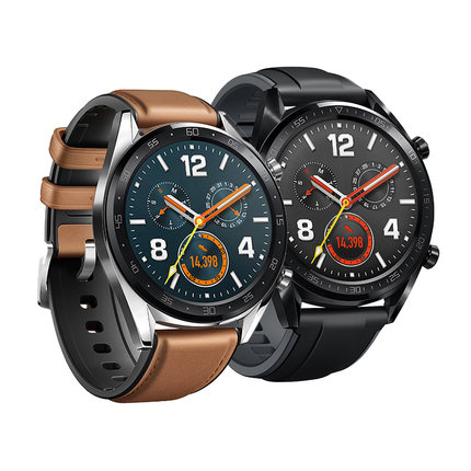 HUAWEI WATCH GT スマートウォッチ Classic/Saddle Brown GPS内蔵 気圧高度計 iOS/Android対応 WATCH GT Classic/Silver ベルト/レザーシリコン (Brown)