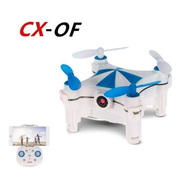 CHAOYILIU ミニ飛行機ドローン カメラ付き 小型 ミニドローン cx-of ラジコン 高度維持 高画質 iPhone&Android対応 (青)